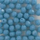#12.00 25 Stück - 6,0 mm Glasschliffperlen - opak blue turquise