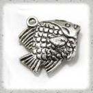 1 Fisch 15x20 mm - antiksilber