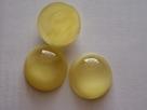 #32 - 1 Stück Glasmugle Ø20 mm yellow perleť