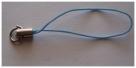 1 Stück Handykordel mit Biegering - hellblau