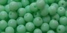 #05 50 Stück Perlen rund - opak mint 5 - Ø 4 mm