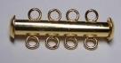1 Schiebeverschluss 4 Ösen gold plated