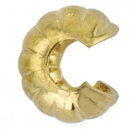 10 Stück Klappkugel ø 4 mm - gold - Rillen