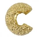 10 Stück Klappkugel ø 4 mm - gold - stark diamantiert