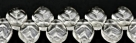 #06 - 25 Stück Blättchen  10x6 mm tr. crystal
