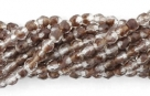 50 Stück - 3,0 mm Glasschliffperlen - HurriCane-Cr.Chestnut