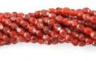 50 Stück - 3,0 mm Glasschliffperlen - HurriCane-Cherry Red