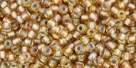 10 g TOHO Seed Beads 11/0 TR-11-0279 - Inside-Color Rainbow Lt Topaz/Gray Lined (E)