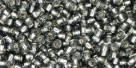 10 g TOHO Seed Beads 11/0 TR-11-0029 B Gray Silver-Lined (A,D)
