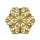 #09 1 Stück filigranes Metall Ø 27 mm goldfarben