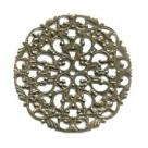 #12 1 Stück filigranes Metall Ø 44 mm bronzefarben