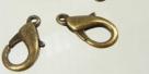 1 Stück Karabinerverschluss - 16mm goldbronzefarben