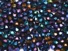 #22 50 Stück - 4,0 mm Glasschliffperlen - blue iris