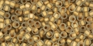 10 g TOHO Seed Beads 11/0 TR-11-0989 M - Gold-Lined Frosted Crystal (E)