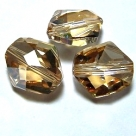 1 Stück Swarovski Cosmic Bead 12mm crystal golden shadow