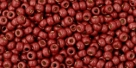 10 g TOHO Seed Beads 11/0 TR-11-PF564 F - Permanent Finish - Matte Galvanized Brick Red (A,C,D)