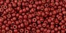10 g TOHO Seed Beads 11/0 TR-11-PF564 F - Permanent Finish - Matte Galvanized Brick Red (A,C,D)