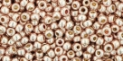 10 g TOHO Seed Beads 11/0 TR-11-PF552 - Permanent Finish - Galvanized Light Dusty Rose (A,D,C)