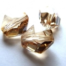 1 Stück Swarovski Cosmic Bead 16mm crystal golden shadow