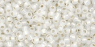 10 g TOHO Seed Beads 11/0 TR-11-2100 - Silver-Lined Milky White (A,D)