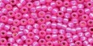 10 g TOHO Seed Beads 11/0 TR-11-2106 -  Dk Pink Opal Silver-Lined (A,B;D)