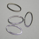 5 Stück ovale Metallringe 16x8 mm nickelfarben