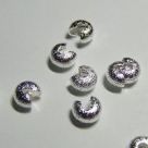 10 Stück Klappkugel ø 4 mm - silber - diamantiert