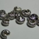 10 Stück Klappkugel ø 4 mm - nickel - diamantiert