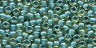 10 g TOHO Seed Beads 11/0 TR-11-0953 - Inside-Color Lt Topaz/Aqua Lined (E)