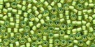10 g TOHO Seed Beads 11/0 TR-11-0946 -  Inside-Color Peridot/Yellow-Lined (E)