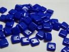50 Stück Squarelet 6x6 mm opak blau