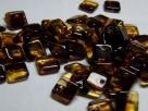 50 Stück Squarelet 6x6 mm tr. dark topaz marmoriert
