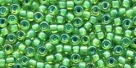 10 g TOHO Seed Beads 11/0 TR-11-0947 - Inside-Color Aqua/Yellow-Lined (E)