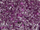 #18.00 - 10 g cz. Farfalle 4x2 mm tr. crystal lila-lined