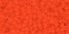10 g TOHO Seed Beads 11/0 TR-11-0050 F - Opaque-Frosted Sunset Orange