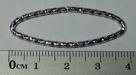 5 Stück ovale Metallringe 39x14 mm Diamantschliff nickelfarben