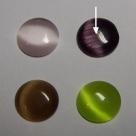 1 Stück Glasmugle  Ø12 mm cateye dark amethyst