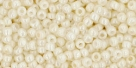 10 g TOHO Seed Beads 11/0 TR-11-0122 - Opaque-Lustered Navajo White