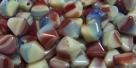 #17 40 Stück - Bicone 6,0 mm -  opak multicolor