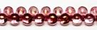 #09 - 20 Glastropfen 5x7mm tr. rosé goldlüster