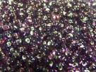 #19.00 - 10 g cz. Farfalle 4x2 mm tr. dark amethyst silver-lined