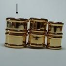 Magnet-Endkappen Bambus - 20x15 mm 14K Gold