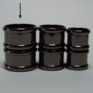 Magnet-Endkappen Bambus - 20x15 mm Black Oxyd
