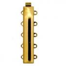 1 Neumann-Verschluss ca. 31 x 6 mm 23kt Goldauflage