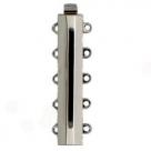 1 Neumann-Verschluss ca. 31 x 6 mm Rhodiumauflage