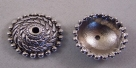 #05 - 1 Perlkappe Ø 27mm altsilber