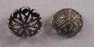 #13 - 1 Perlkappe Ø 20mm altgold/bronze