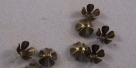 #18 - 5 Perlkappen Blume Ø 8mm altgold/bronze