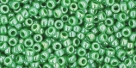 10 g TOHO Seed Beads 11/0 TR-11-0130 - Opaque-Lustered Mint Green