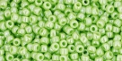 10 g TOHO Seed Beads 11/0 TR-11-0131 - Opaque-Lustered Sour Apple